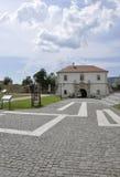 Alba Carolina, 15 juni: Poort IV van Alba Carolina Fortress in Roemenië Stock Afbeelding