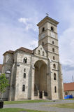 Alba Carolina Juni 15: St Michael Cathedral från Alba Carolina Fortress i Rumänien Royaltyfria Bilder