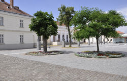 Alba Carolina, 15 Juni: Vierkant van Nationaal Unie Museum van Alba Carolina Fortress in Roemenië Royalty-vrije Stock Afbeelding