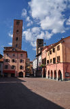 Alba central square, province of Cuneo, Piemonte, Italy Stock Image