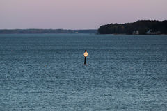 Alba che colpisce il segno del santuario dell'ostrica Immagini Stock Libere da Diritti