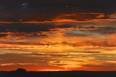 Alba in Colorado fotografie stock libere da diritti