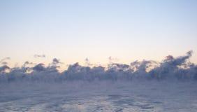 Alba con nebbia Fotografia Stock