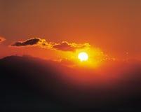 Alba con Sun Immagini Stock