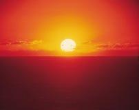 Alba con Sun Fotografia Stock