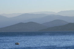 Alba a Corfù Grecia immagine stock