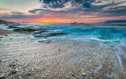 Alba in costa di nordest di Taiwan Immagine Stock Libera da Diritti