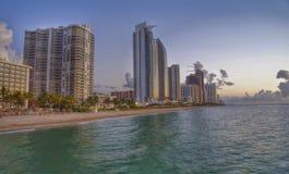 Alba costiera di Miami Beach Florida Fotografia Stock
