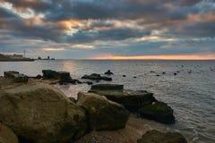 Alba Crimea di inverno immagine stock