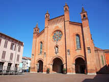 Alba, Cuneo, Italy. Duomo of San Lorenzo (Cathedral) Stock Photo