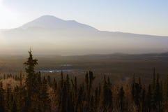 Alba d'Alasca Immagine Stock