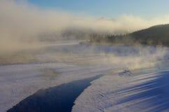 Alba d'Alasca, tarda mattinata Fotografia Stock