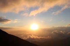 Alba da Volcán de Fuego Fotografie Stock Libere da Diritti