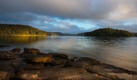 Alba dal fiume di Hawsbury, NSW Immagine Stock Libera da Diritti