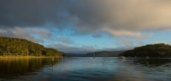Alba dal fiume di Hawsbury, NSW Fotografia Stock