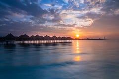 Alba dalla località di soggiorno di galleggiamento a lalang bagan selangor Fotografie Stock