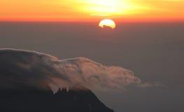 Alba dalla parte superiore di Kilimanjaro Fotografia Stock Libera da Diritti