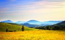 Alba dalle montagne Fotografie Stock Libere da Diritti