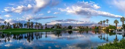 Alba del campo da golf Fotografia Stock