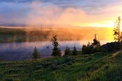 alba del fiume Fotografia Stock