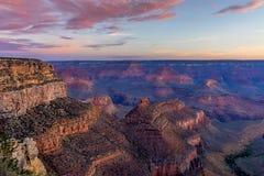 Alba del grande canyon Immagine Stock