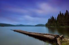 Alba del lago fotografie stock libere da diritti