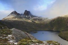 Alba del lago CLose di Mt della culla Fotografia Stock