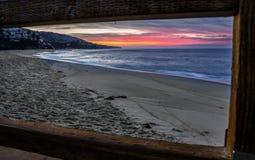 Alba del Laguna Beach Immagine Stock Libera da Diritti