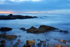 Alba del mare Immagini Stock