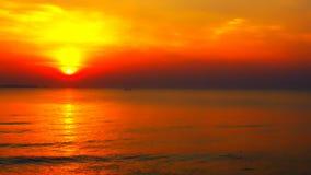 Alba del mare e della spiaggia Fotografia Stock Libera da Diritti
