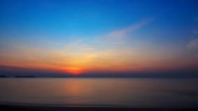 Alba del mare e della spiaggia Immagine Stock