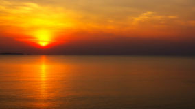 Alba del mare e della spiaggia Immagini Stock