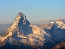 Alba del Matterhorn Immagine Stock