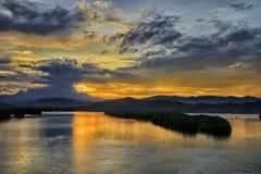 Alba del Monte Kinabalu Immagine Stock