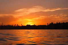 Alba del Nilo Fotografia Stock