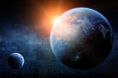 Alba del pianeta Terra Fotografie Stock