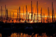 Alba del porto Fotografia Stock Libera da Diritti