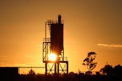 alba del silo Immagine Stock