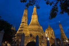 Alba del tempio o, Bangkok Fotografie Stock