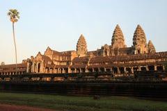 Alba del wat di Angkor Immagini Stock Libere da Diritti
