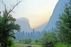 Alba del Yosemite fotografia stock