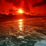 Alba dell'oceano Fotografia Stock