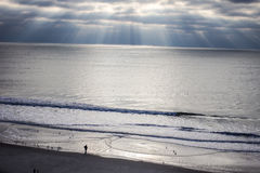 Alba dell'Oceano Atlantico Immagini Stock Libere da Diritti