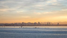 Alba dell'orizzonte di San Diego Fotografie Stock Libere da Diritti