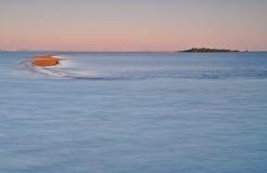 Alba della baia di Moreton Fotografia Stock