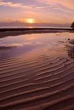 Alba della baia di Moreton Fotografia Stock Libera da Diritti
