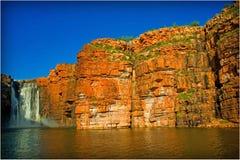 Alba della cascata Fotografia Stock