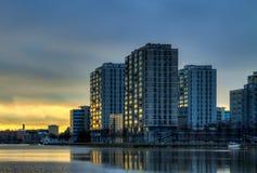 Alba della città immagine stock