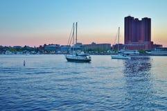 alba della città di Baltimora Fotografie Stock