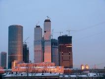 alba della costruzione di edifici sotto Immagini Stock Libere da Diritti